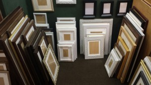 A range of upcycled vintage and antique frames.